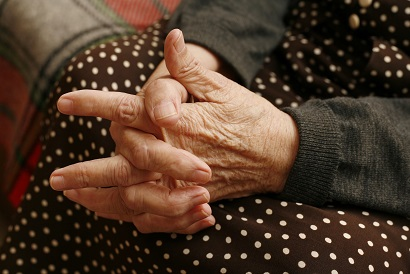 Arthritic Hands of an elderly woman