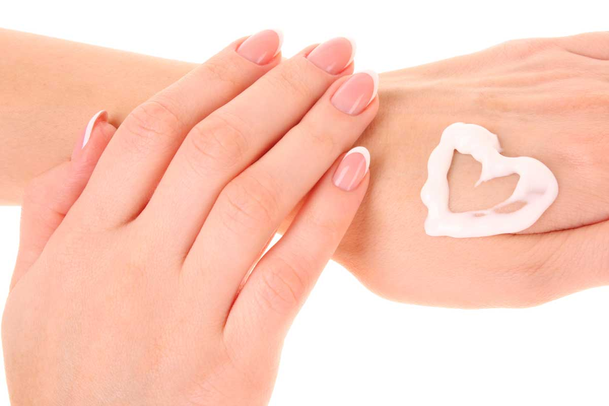 hand lotion in shape of a heart